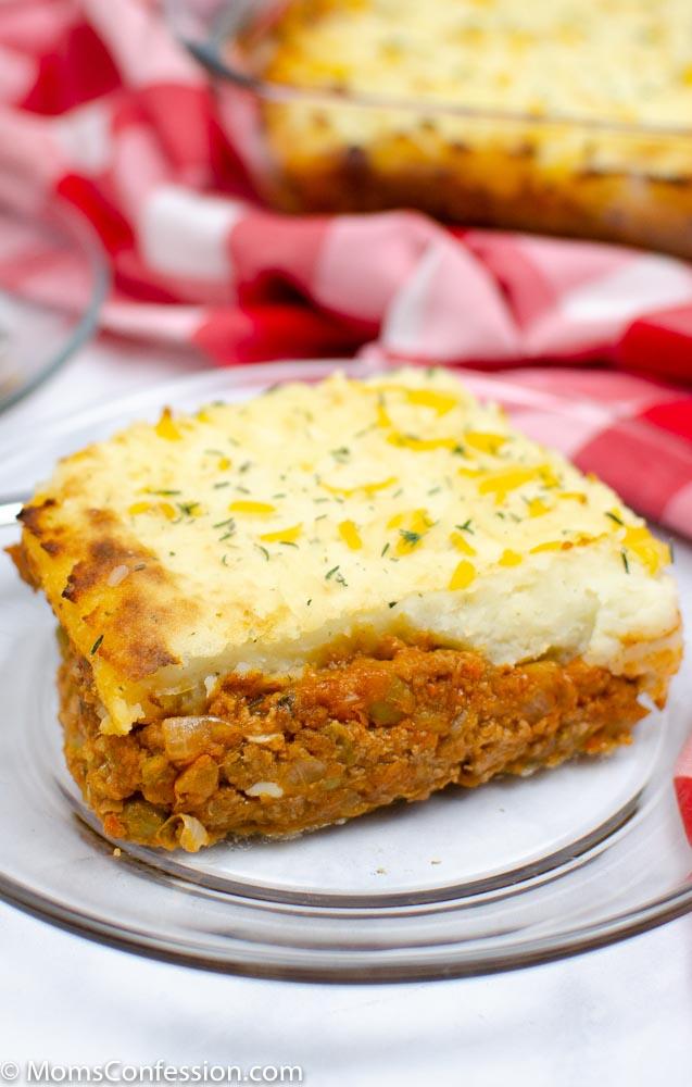 closeup image of Simple Shepherd's Pie Recipe