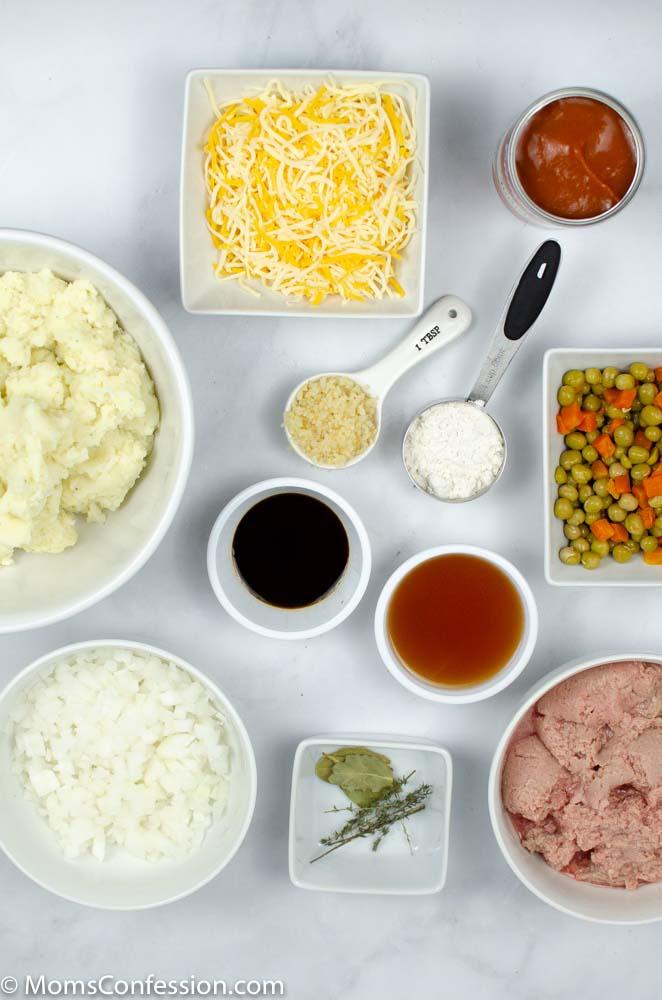 Simple Shepherd's Pie Recipe ingredients