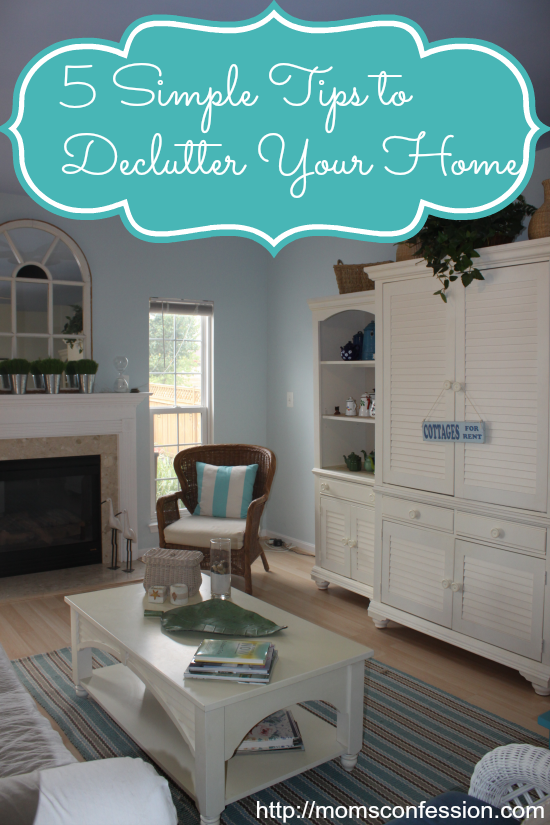 5 Simple Tips to DeClutter Your Home