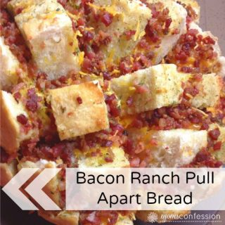 Deliciously Cheesy Bacon Ranch Pull Apart Bread...YUMMO!
