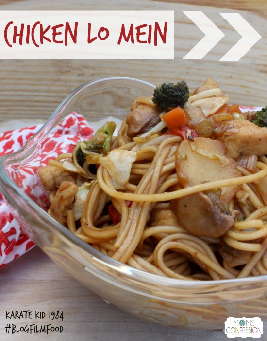 Delicious Chicken Lo Mein #BlogFilmFood