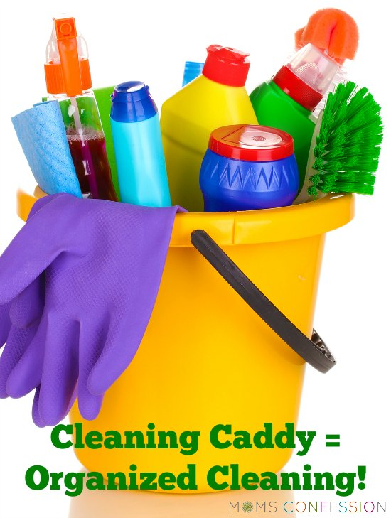 "Before discovering how much my cleaning caddy has become a lifesaver, I found myself in the ""I don't like to clean"" category. Now cleaning is a breeze! See how a cleaning caddy can help you save time and keep your home clean! - MomsConfession.com"