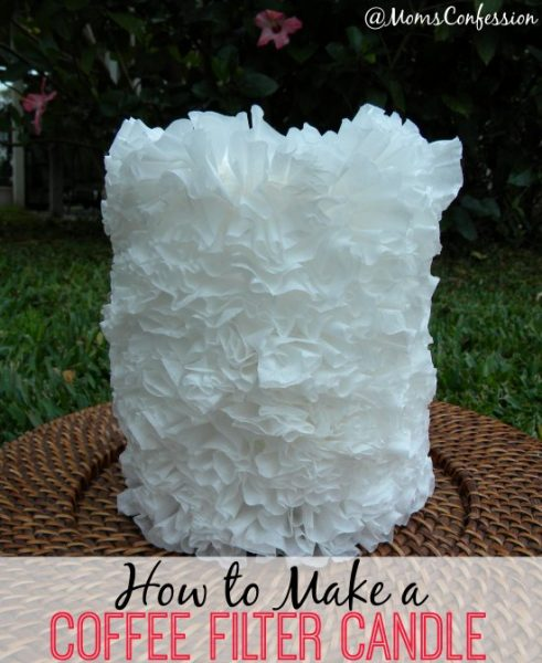 How to Make a Coffee Filter Candle