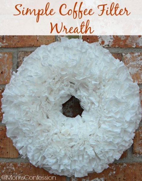 Simple Coffee Filter Wreath to make this weekend!