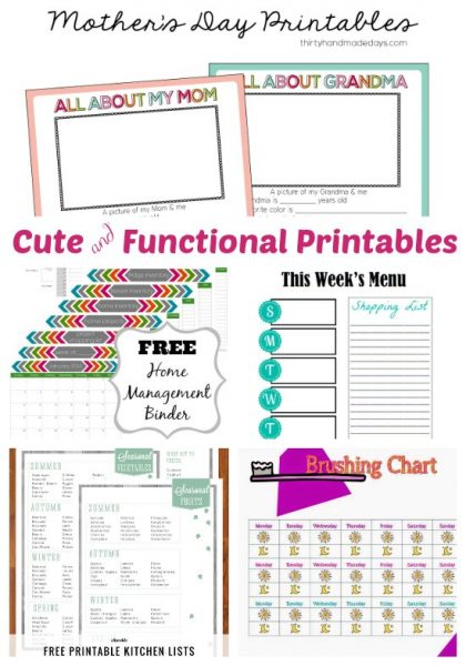 Cute and Functional Printables