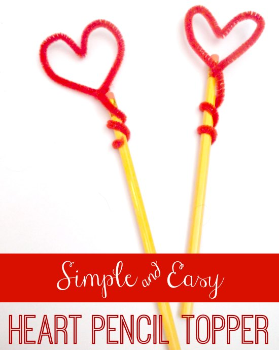 Super Cute Valentine's Day Heart Pencil Topper - So easy to make! | MomsConfession.com