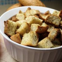 5 Minute Homemade Croutons - Perfect for Salads or a Snack