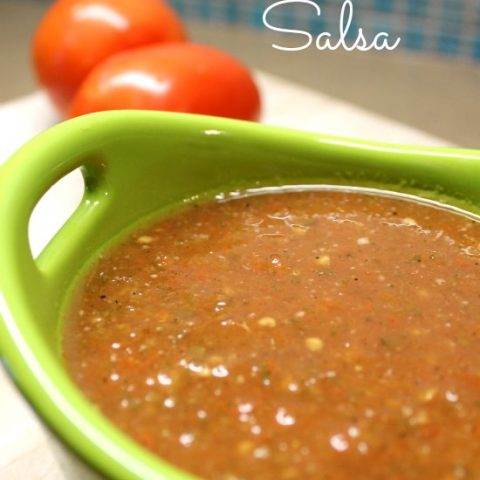 This easy homemade salsa recipe is a staple in our home and it can be in yours too! Try this easy salsa recipe today and enjoy with friends and family.