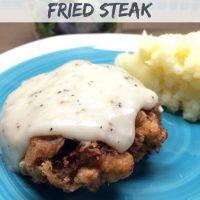 Southern Poor Boy Chicken Fried Steak with Gravy