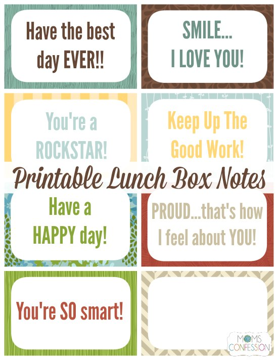 photo regarding Printable Lunchbox Notes called Printable Lunchbox Notes
