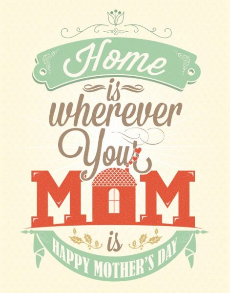 Home Is Where Your Mom Is {Free Printable Mother's Day Card}