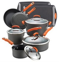 Rachael Ray Hard-Anodized Cookware Set