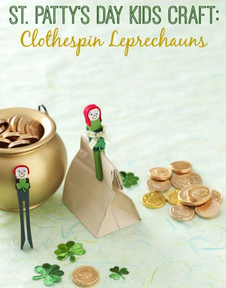 St. Patrick's Day Clothespin Leprechaun