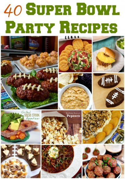 Looking for easy Super Bowl Party Recipes? Get 40+ easy football party recipes that will have your guests mouth watering on Super Bowl Sunday!