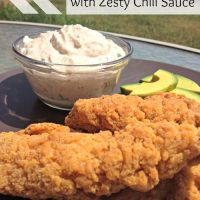 Easy Tyson Chicken Dippers with Zesty Chili Sauce