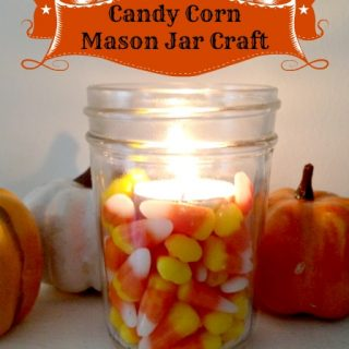 Mason Jar Craft: Candy Corn Votive Candle