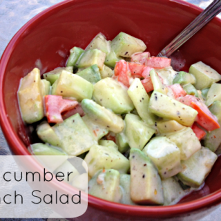 Zesty Cucumber Ranch Salad