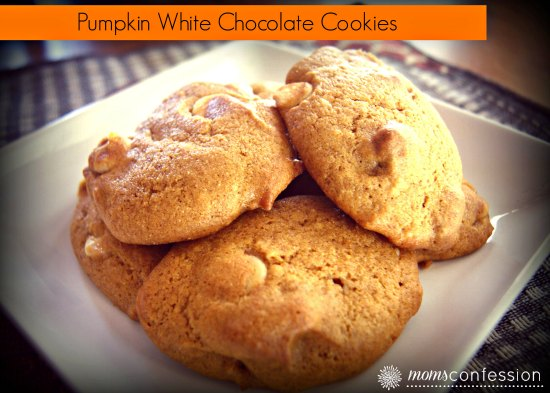 Pumpkin White Chocolate Cookies